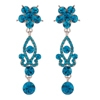 Zoya Earrings - Blue Zircon