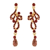 L'Amour Earrings - Red (Gold Plated)