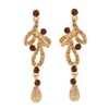 L'Amour Earrings - Brown