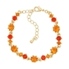 Pirouette Bracelet - Orange (Gold Plated)