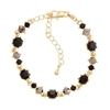 Pirouette Bracelet - Black (Gold Plated)