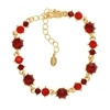 Pirouette Bracelet - Red (Gold Plated)