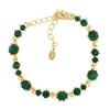 Pirouette Bracelet - Emerald (Gold Plated)