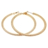 Crystal Hoop Earrings (Medium) - Clear (Gold Plated)