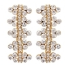 Ria Earrings - Clear (Gold Plated)