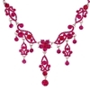 Zoya Necklace - Fuchsia (Silver Plated)
