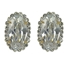 Adele Earrings - Clear (Gold Plated)