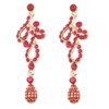 L'Amour Earrings - Fuchsia (Silver Plated)