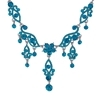 Zoya Necklace - Blue Zircon