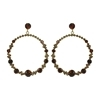Cacia Earrings (Small) - Brown