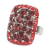 Pandora Ring - Red (Silver Plated)