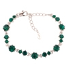 Pirouette Bracelet - Emerald (Silver Plated)