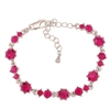 Pirouette Bracelet - Fuchsia (Silver Plated)