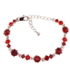 Pirouette Bracelet - Red (Silver Plated)