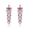 Angelika Earrings - Fuchsia