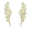 Diamante Queen Earrings - Clear (Gold Plated)