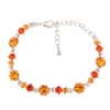 Pirouette Bracelet - Orange (Silver Plated)