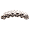 Six Flower Hair Slide - Black