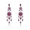 Isabella Earrings - Fuchsia