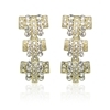 Romana Earrings - Clear (Gold Plated)