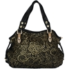 Juliana Handbag - Black with Gold Detail