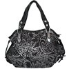 Juliana Handbag - Black with Silver Detail