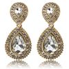 Arabella Earrings - Clear (Gold Plated)