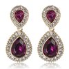 Arabella Earrings - Fuchsia