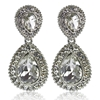 Arabella Earrings - Clear (Silver Plated)