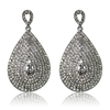 Bella Earrings - Clear (Silver Plated)