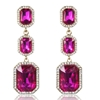 Annabelle Earrings - Fuchsia