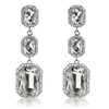 Annabelle Earrings - Clear (Silver Plated)