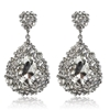 Charlotte Earrings - Clear (Silver Plated)