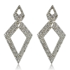 Danya Earrings - Clear (Gold Plated)