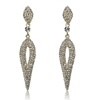 Chantelle Earrings - Clear (Gold Plated)