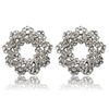 Elaina Earrings - Clear (Silver Plated)
