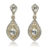 Chaya Earrings - Clear (Gold Plated)