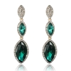 Arya Earrings - Emerald