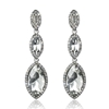 Arya Earrings - Clear (Silver Plated)