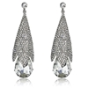 Cherie Earrings - Clear (Silver Plated)