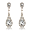 Diandra Earrings - Clear (Gold Plated)
