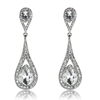 Diandra Earrings - Clear (Silver Plated)