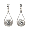 Estella Earrings - Clear (Gold Plated)