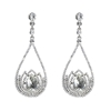 Estella Earrings - Clear (Silver Plated)