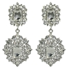 Heidi Earrings - Clear (Silver Plated)