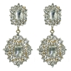 Heidi Earrings - Clear (Gold Plated)