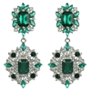 Heidi Earrings - Emerald (Silver Plated)