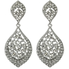 Karina Earrings - Clear (Silver Plated)