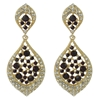 Karina Earrings - Purple (Gold Plated)