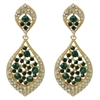 Karina Earrings - Emerald
